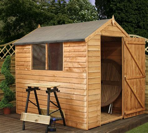 Wooden Garden Sheds 10 X 7 by Installed 7 X 5 Escape Overlap Wooden Garden Shed