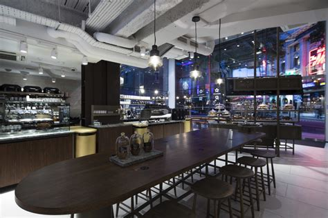 Futuristic Kitchen Designs Starbucks Offers Quot Theatrical Quot Dining With New Interiors