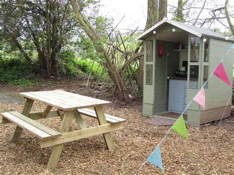 bell tent kitchen and table wye gling