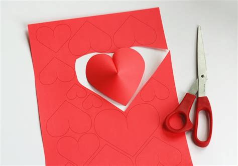 Paper Hearts - make a wall of paper hearts how about orange