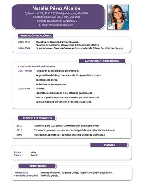 Modelo Curriculum Frances Plantillas Y Modelos De Curriculum En Franc 233 S Trabajar En Francia Cvexpres Page 6