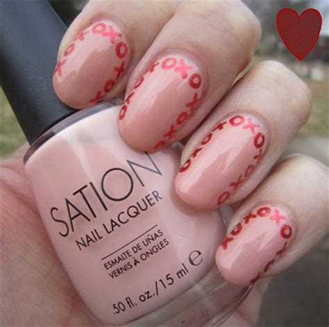 easy valentines nails simple easy s day nail designs