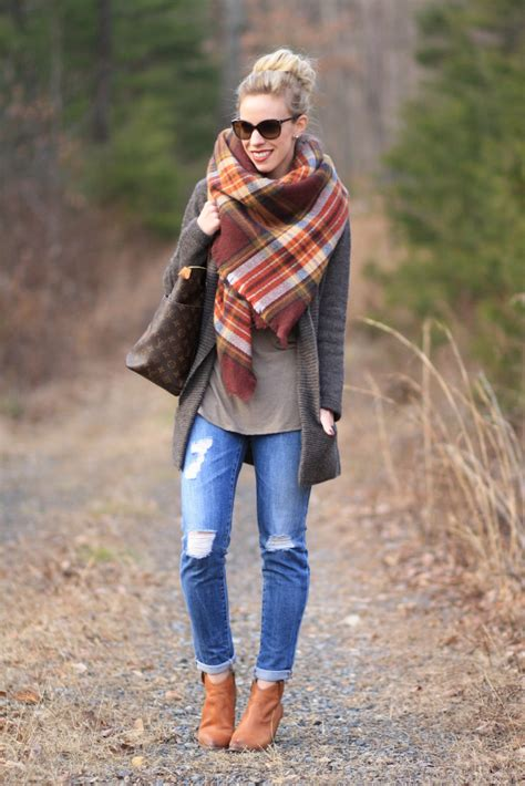 Sweater Mm Salur Terbaru feels like home plaid blanket scarf cardigan distressed denim meagan s moda
