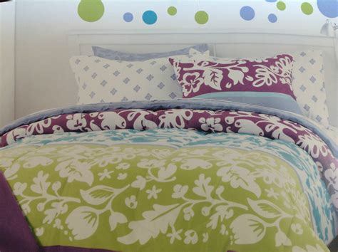 Cynthia Rowley Teal Purple Lime Twin Xl Dorm Comforter 9pc Cynthia Rowley Bedding Xl