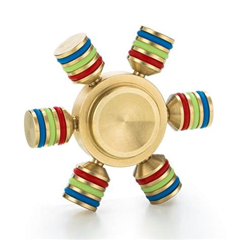 Fidget Spinner Pelangi Rainbow Metallic Wheel spin wars 6 sided metallic fidget spinner