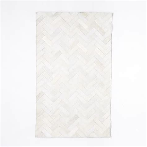Pieced Cowhide Rug Pieced Patched Cowhide Rug Chevron West Elm