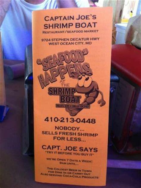 shrimp boat restaurant menu menu picture of shrimp boat ocean city tripadvisor
