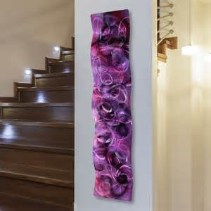 Purple Wall Decor by Metal Abstract Modern Painting Wall Sculpture Purple