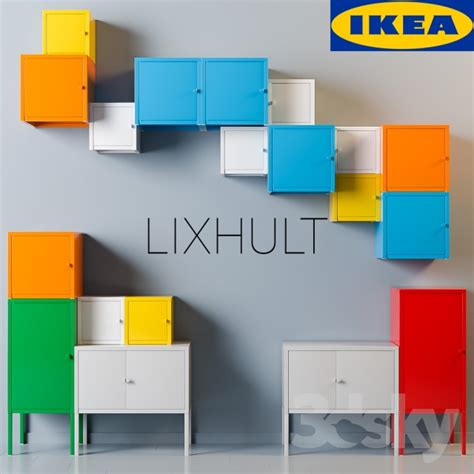 ikea lixhult 3d models sideboard chest of drawer ikea lixhult set