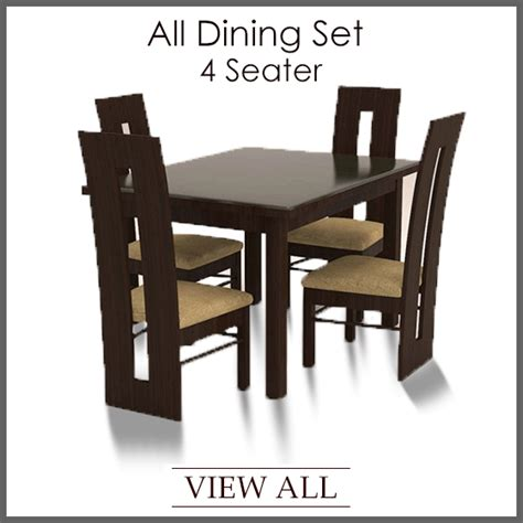 Four Chair Dining Table Designs 4 Seater Dining Set Four Seater Dining Table And Chairs Furniture Furniture