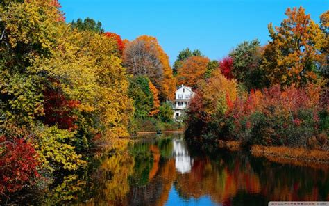 hd peaceful autumn scene wallpaper