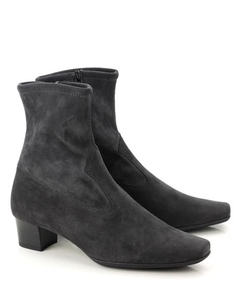 kaiser gene stretch suede ankle boot carbon shoe room