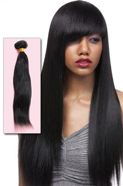 black hairstyles with remy hair 1b off black yaki straight indian remy hair weave wti07