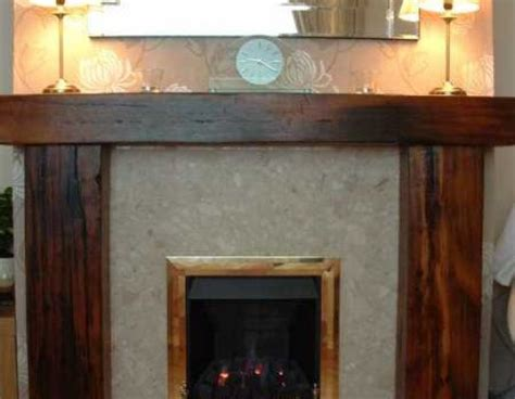 Railway Sleeper Surround by Fireplace Surrounds Lintels From Railway Sleepers