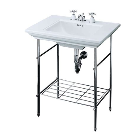 Pedestal Sink Kohler Kohler Memoirs Table Legs Only In Polished Chrome K 6880