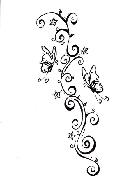 tattoo swirls butterflies and swirls design by lynettecooper on