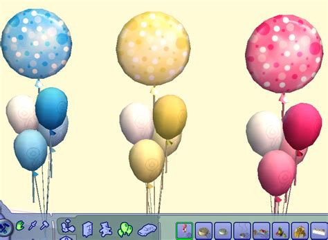 ballons for baby shower mod the sims baby shower balloons