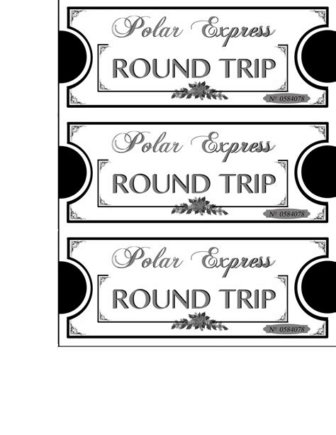 mommy will play polar express tickets printables