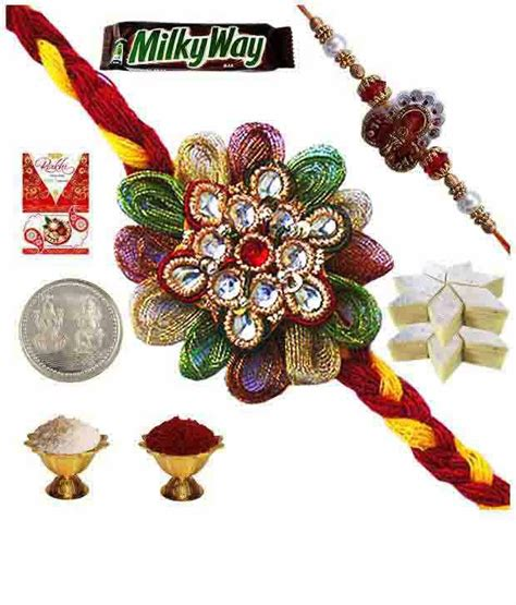 Beautiful Handmade Rakhi - india beautiful handmade rakhi gift buy