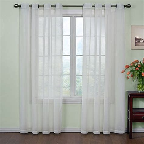 kitchen sheer curtains buy sheer kitchen curtains from bed bath beyond