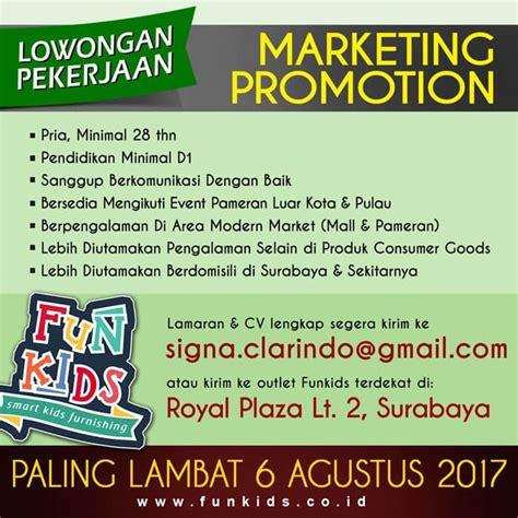 Lowongan Pekerjaan Surabaya lowongan kerja surabaya juli 2017 lowongan marketing