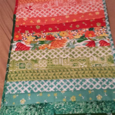 quilt as you go table runner quiltsby me