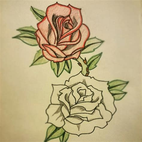 tattoo pen rose my drawing and possibly my future tattoo love rose red