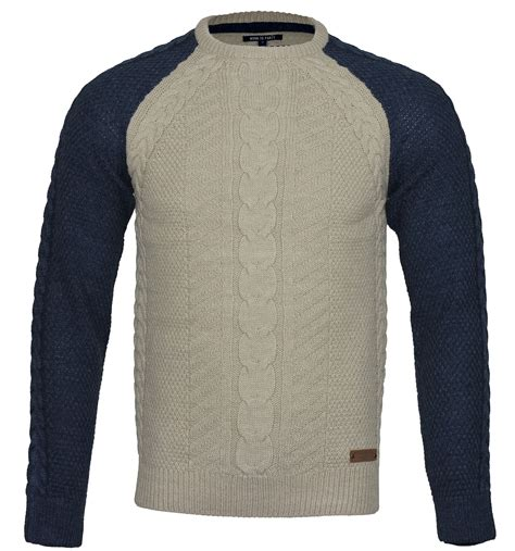 cable knit sweater mens mens winter cable knit crew neck casual smart sweater