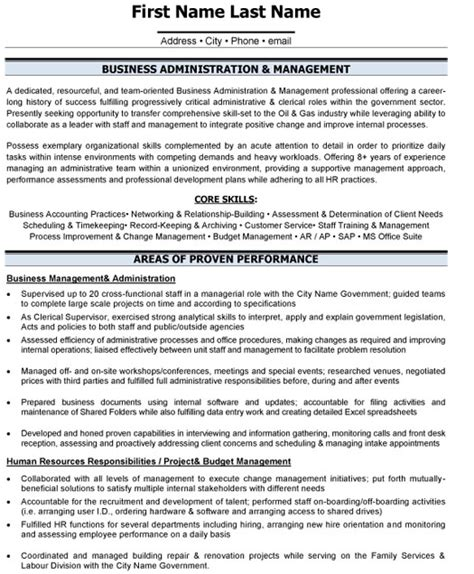 business administration resume exles top administrative resume templates sles