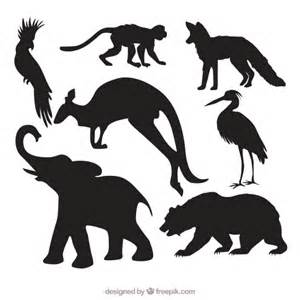 Animal Silhouettes Templates by Pack Of Animal Silhouettes Vector Free