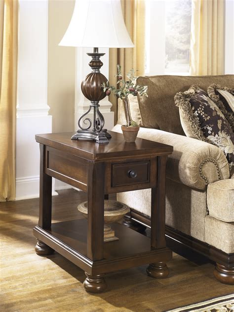 noah chair side end table vintage traditional rustic brown
