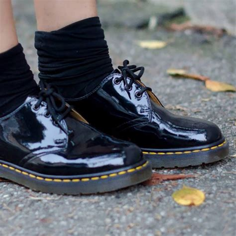 Dr Martens 1461 Black 3 dr martens 1461 3 eye black patent aversa shoes s r l