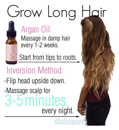 10 ways to grow long hair fast quot how to get long hair fast quot by alinapark on polyvore nail