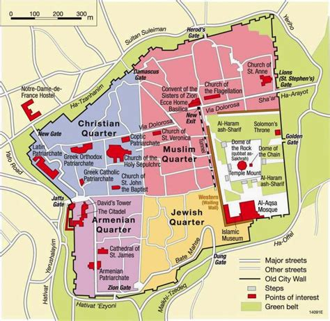 map of jerusalem map of city of jerusalem free printable maps