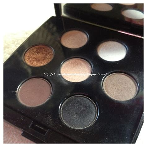Lancome Eyeshadow frozen blossoms swatches review lancome color design