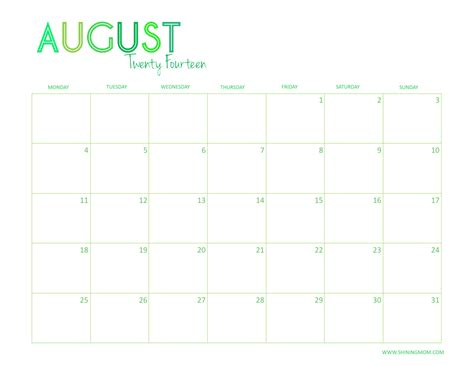 august 2014 calendar template image gallery 2014 august alendeer
