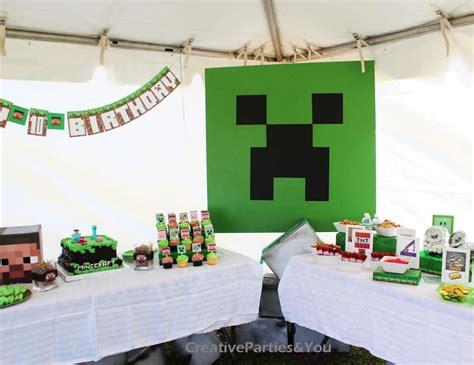 party themes minecraft minecraft birthday quot minecraft themed birthday party