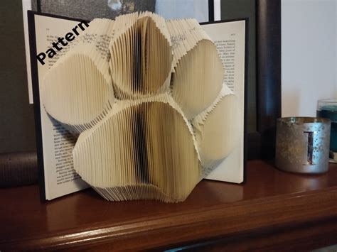 pattern art book paw print folded book art pattern diy customizable