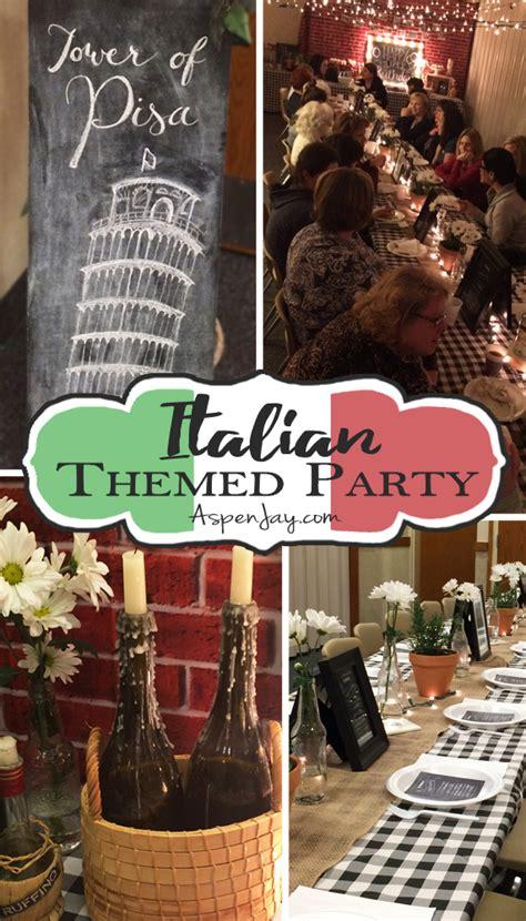 themed dinner italian themed dinner aspen