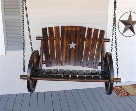 wagon wheel porch swing porch swings insteading