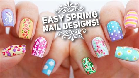 simple nail art design youtube 10 easy nail art designs for spring the ultimate guide