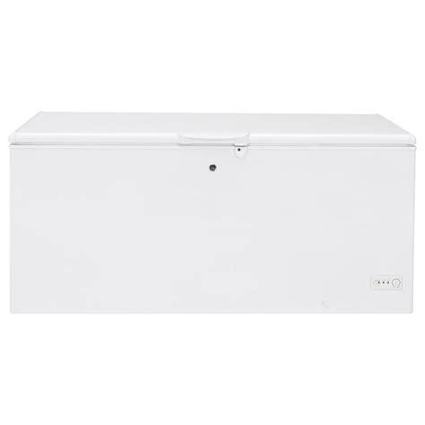 Chest Freezer Second Mulus shop ge 21 7 cu ft chest freezer with temperature alarm