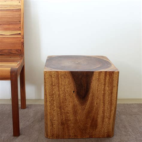 cube side tables wooden cube 18 walnut oil end table thailand by