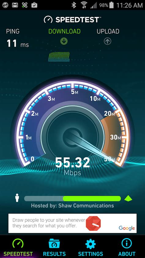 speed test android is your speed as as promised