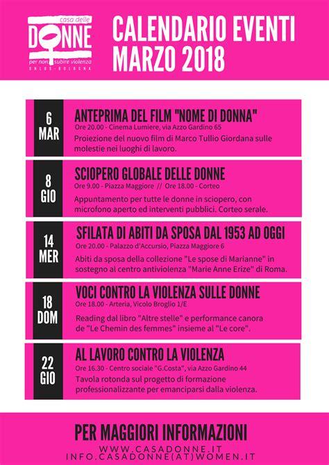 casa delle donne bologna calendario eventi marzo 2018 casa delle donne per non