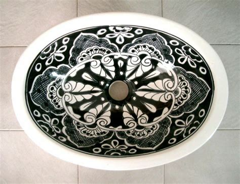 Mexican Ceramic Sink by 086 Small 16x11 5 Mexican Bathroom Sink Ceramic Drop In