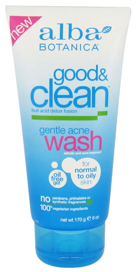 Alba Botanica And Clean Fruit Acid Detox Fusion by Product Review Alba Botanica Clean Gentle Acne Wash