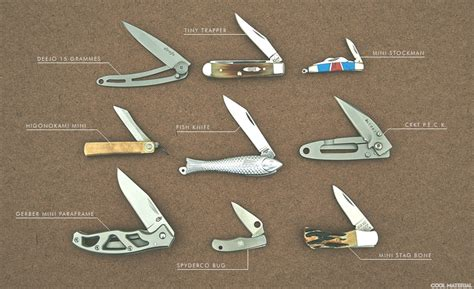 knives names the best mini pocket knives cool material