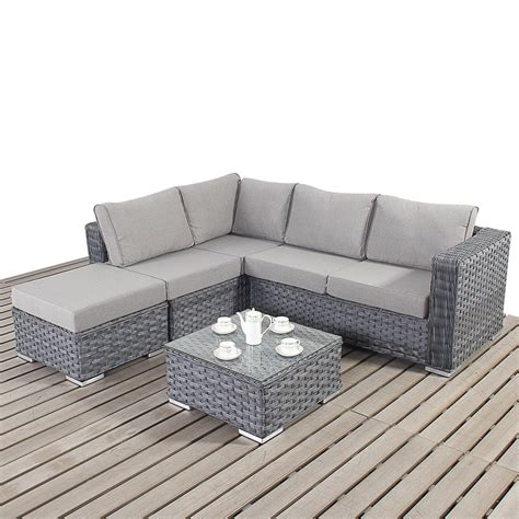 grey outdoor sofa sale garden village uk port royal platinum small corner
