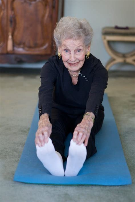 Ruth Is 100 Years Old And Does Pilates To Keep Fit I Love | watch 100 year old ruth doing pilates and stretches